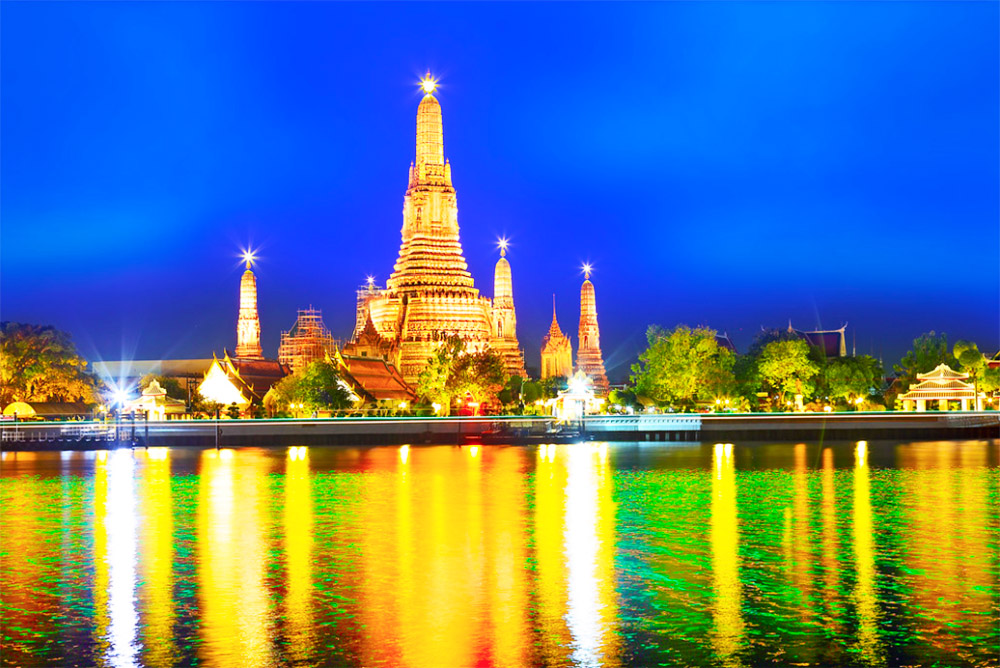 Bangkok Ciudad Templo iluminado