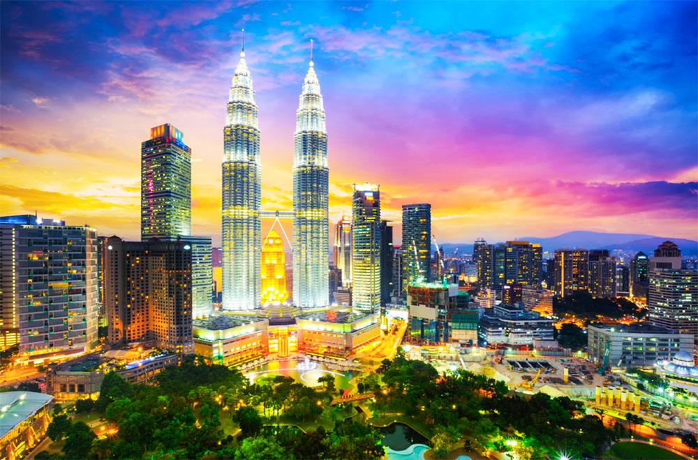 Kuala Lumpur ciudad noche